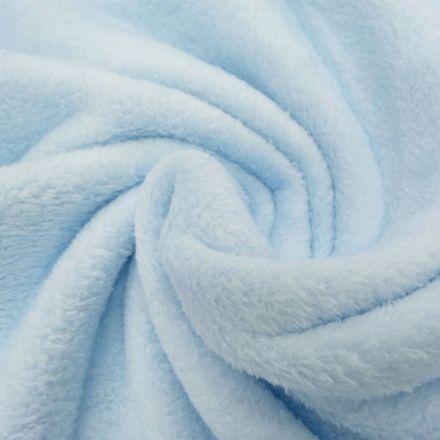 Tissu Doudou uni Bleu ciel x10cm