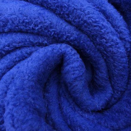 Tissu Doudou uni Bleu x10cm