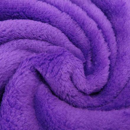 Tissu Doudou uni Violet x10cm