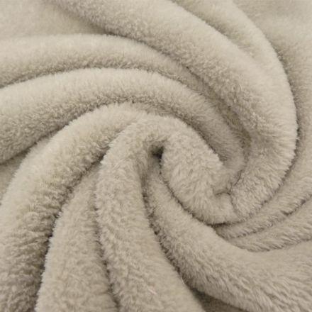 Tissu Doudou uni Beige x10cm