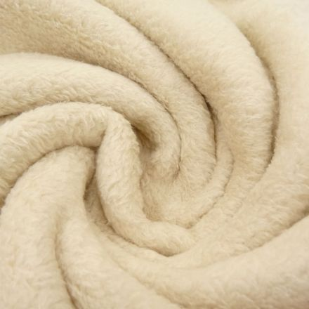 Tissu Doudou uni Beige clair x10cm