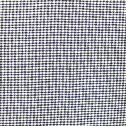 Tissu Vichy Mini carreaux 3 mm Bleu marine - Par 10 cm