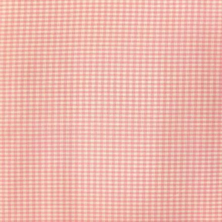 Tissu Vichy Mini carreaux 3 mm Rose pastel - Par 10 cm