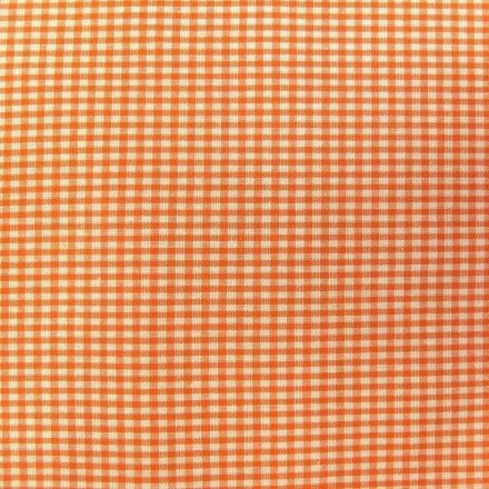 Tissu Vichy Mini carreaux 3 mm Orange - Par 10 cm