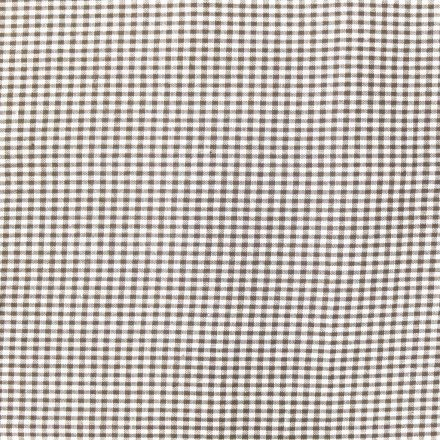 Tissu Vichy Mini carreaux 3 mm Marron - Par 10 cm
