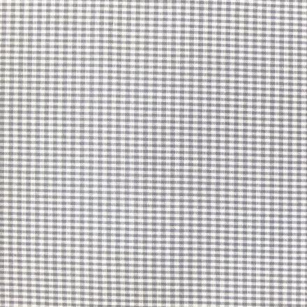 Tissu Vichy Mini carreaux 3 mm Gris - Par 10 cm