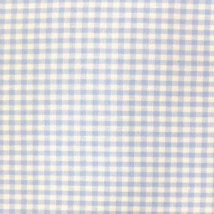 Tissu Vichy Petits carreaux 5 mm Bleu ciel - Par 10 cm