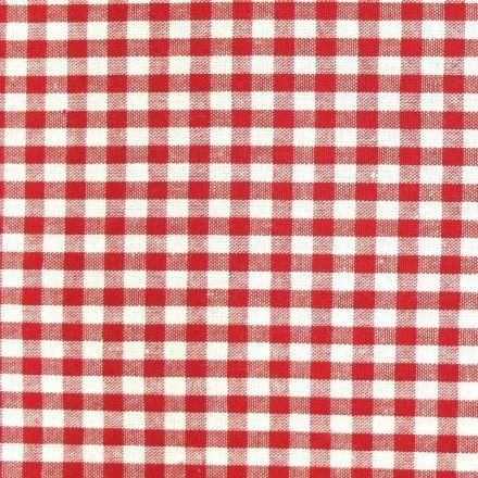 Tissu Vichy Petits carreaux 5 mm Rouge - Par 10 cm