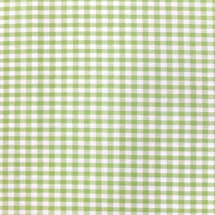 Tissu Vichy Petits carreaux 5 mm Vert pomme - Par 10 cm