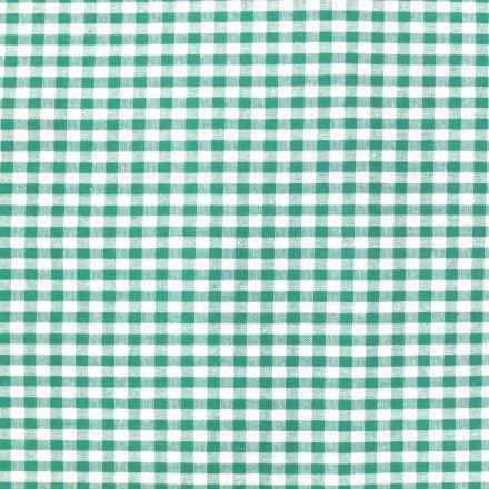 Tissu Vichy Petits carreaux 5 mm Vert - Par 10 cm
