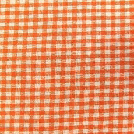 Tissu Vichy Petits carreaux 5 mm Orange - Par 10 cm