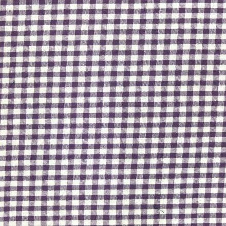 Tissu Vichy Petits carreaux 5 mm Violet - Par 10 cm