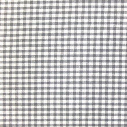 Tissu Vichy Petits carreaux 5 mm Gris - Par 10 cm