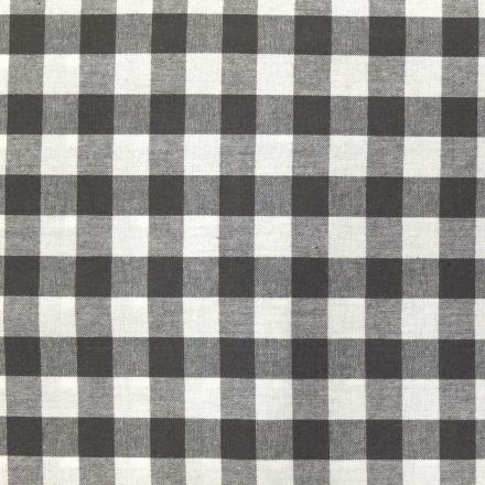 Tissu Vichy Très grands carreaux 17 mm Taupe - Par 10 cm