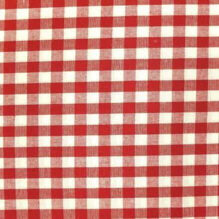 Tissu Vichy Grands carreaux 10 mm Rouge - Par 10 cm