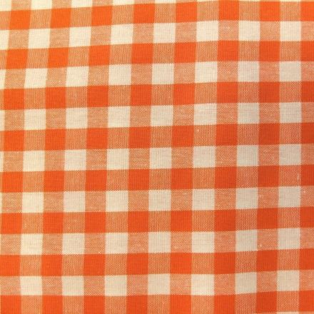 Tissu Vichy Grands carreaux 10 mm Orange - Par 10 cm