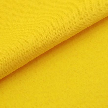 Tissu Molleton Sweat uni Jaune impérial x10cm