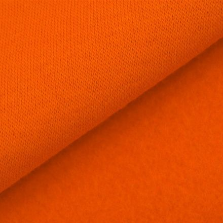 Tissu Molleton Sweat uni Orange x10cm