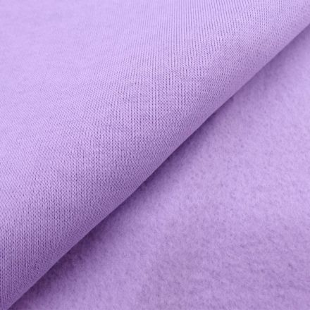 Tissu Molleton Sweat uni Parme x10cm