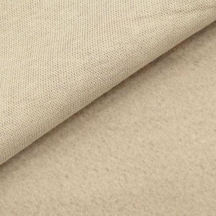 Tissu Molleton Sweat uni Beige x10cm