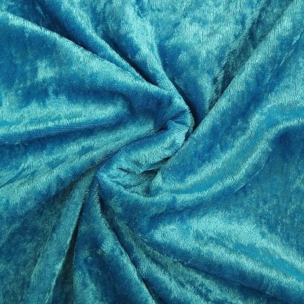 Panne de velours Bleu turquoise x10cm
