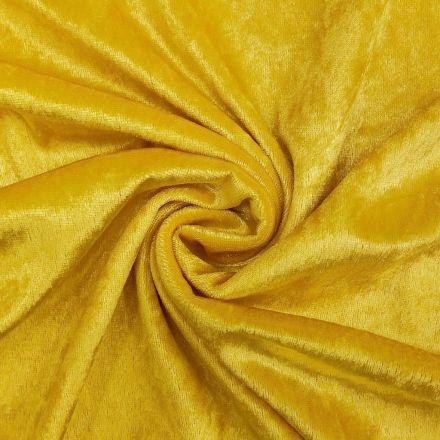 Panne de velours Jaune citron x10cm
