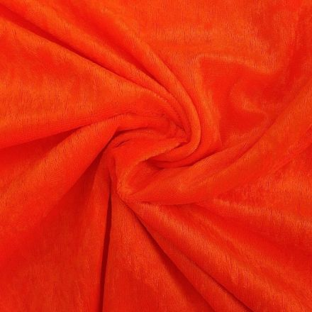 Panne de velours Orange fluo x10cm