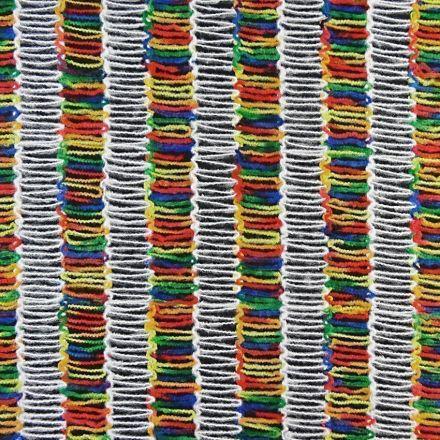 Tissu Lainage Rayures multicolores x10cm