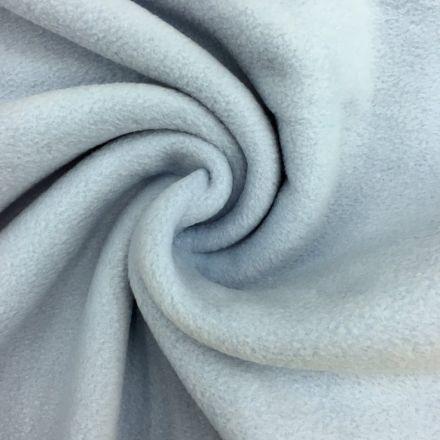 Tissu Polaire uni Bleu ciel - Par 10 cm