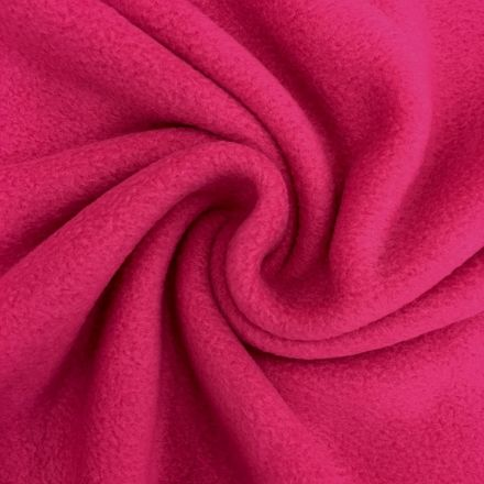 Tissu Polaire uni Fuchsia - Par 10 cm