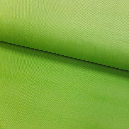 Tissu Velours milleraies Vert pomme - Par 10 cm