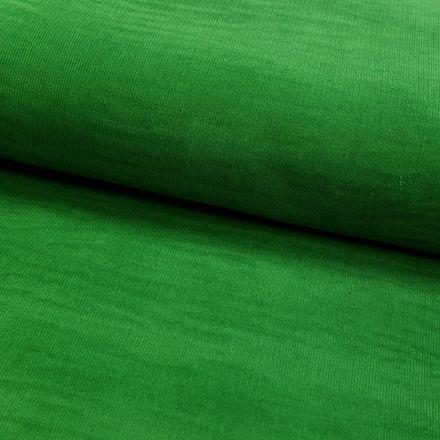 Tissu Velours milleraies Vert nature - Par 10 cm