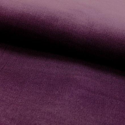 Tissu Velours milleraies Violet - Par 10 cm