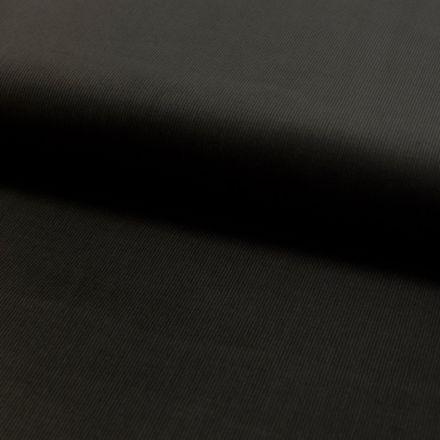 Tissu Velours milleraies Noir - Par 10 cm