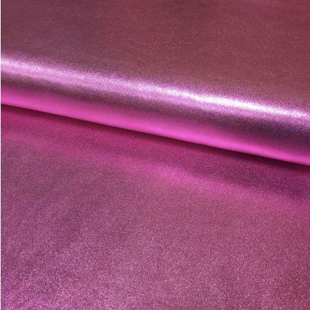 Tissu Lamé brillant Rose - Par 10 cm