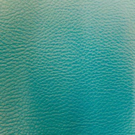 Simili cuir d'ameublement uni Turquoise - Par 50 cm