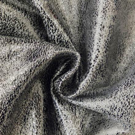 Simili cuir Safari Acier - Par 50 cm