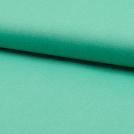 Tissu Coton uni Vert turquoise - Par 10 cm