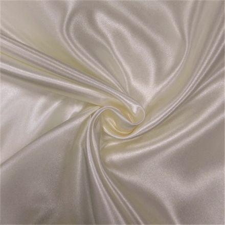 Tissu Doublure Satin Deluxe Ecru - Par 10 cm