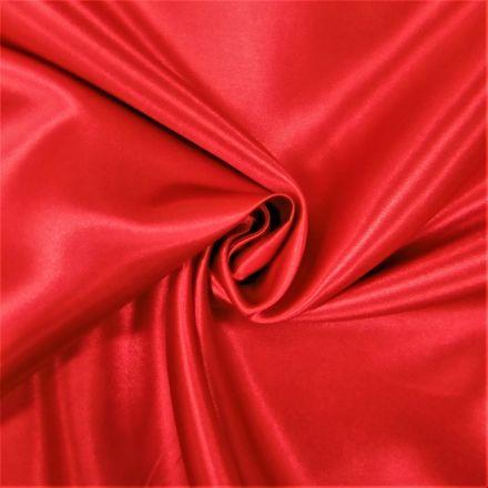 Tissu Doublure Satin Deluxe Rouge - Par 10 cm