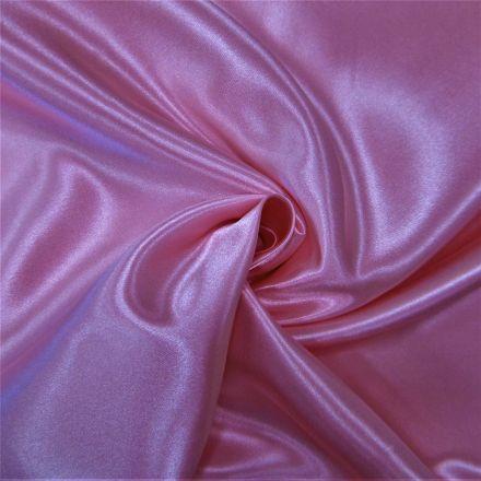 Tissu Doublure Satin Deluxe Rose - Par 10 cm