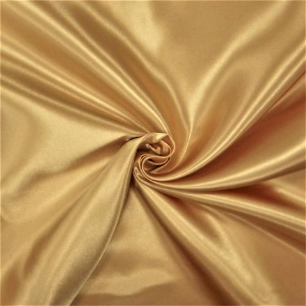 Tissu Doublure Satin Deluxe Or - Par 10 cm