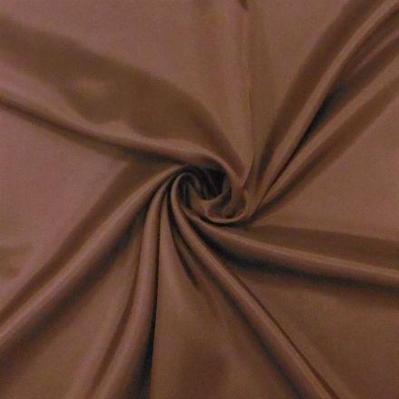 Tissu Doublure Pongé Chocolat - Par 10 cm