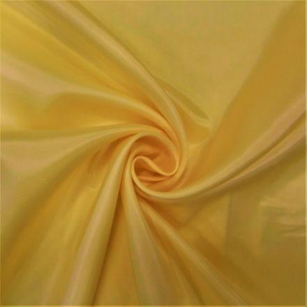 Tissu Doublure Pongé Jaune citron - Par 10 cm