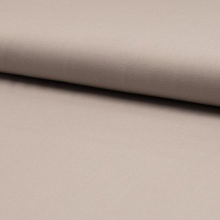 Tissu Popeline de coton unie Beige sable clair - Par 10 cm