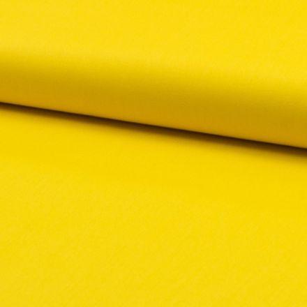 Tissu Popeline de coton unie Bouton d'or - Par 10 cm