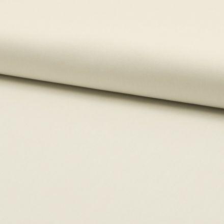 Tissu Popeline de coton unie Ecru - Par 10 cm