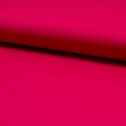 Tissu Popeline de coton unie Framboise - Par 10 cm