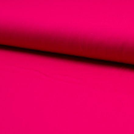Tissu Popeline de coton unie Fuchsia - Par 10 cm