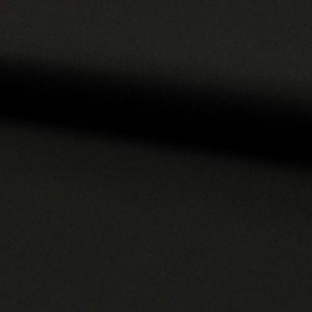 Tissu Popeline de coton unie Noir - Par 10 cm